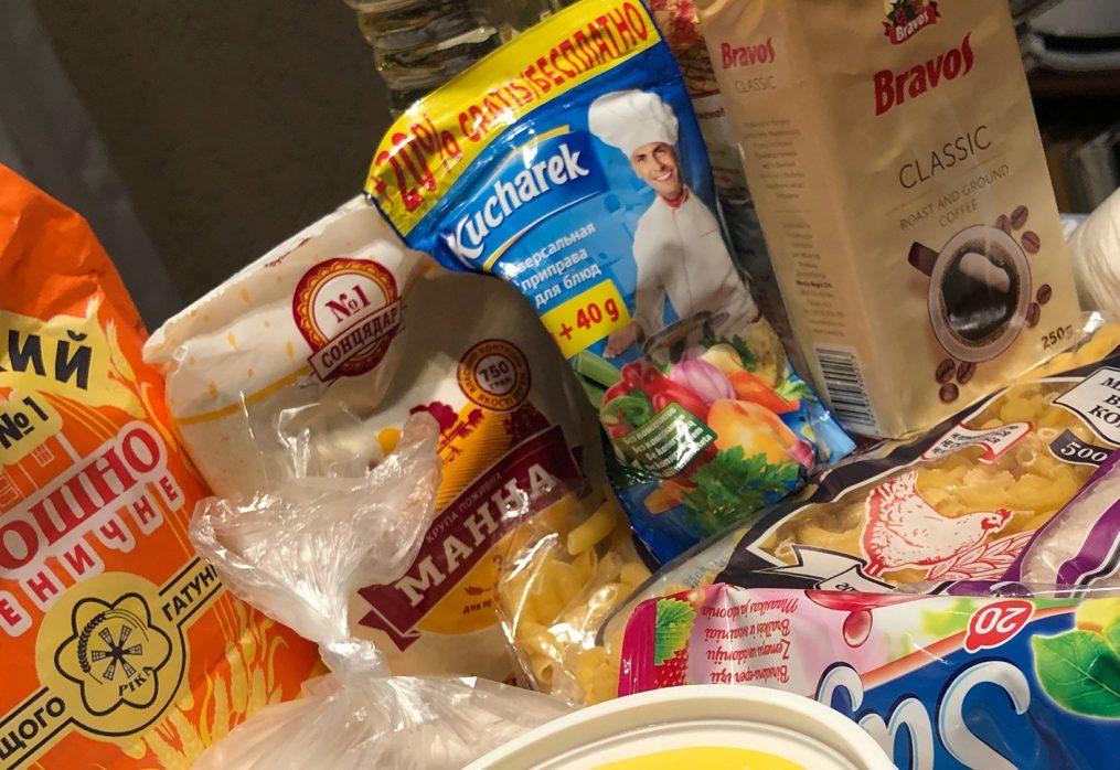 Élelmiszer adományok szétosztása